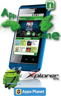harga ponsel android dual sim S Nexian Xplorer A712 murah lengkap wifi