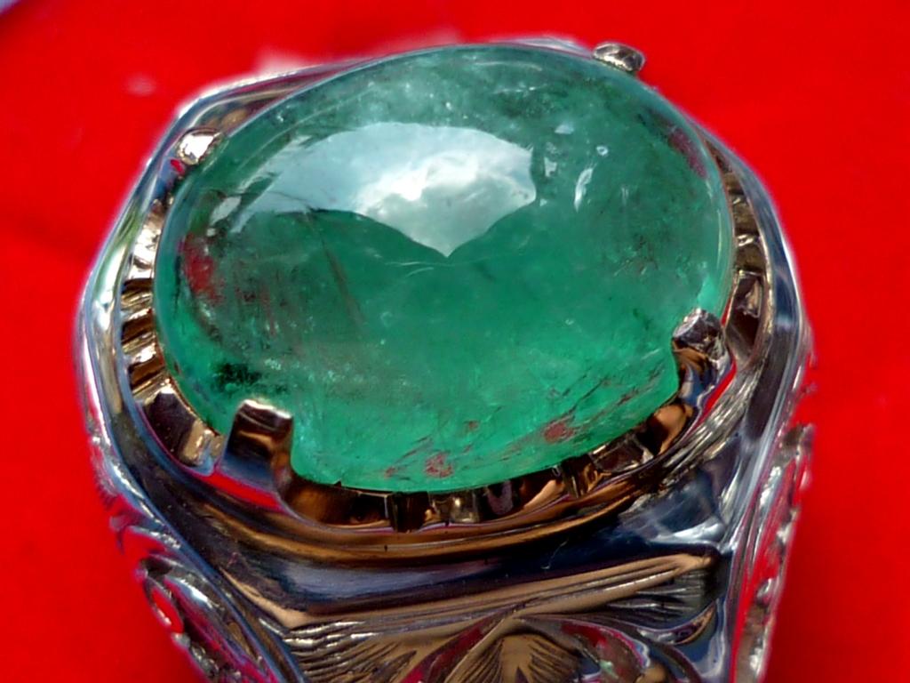 Cincin Zamrud Colombia Asli Kod Z01 - RM1180 (SOLD)