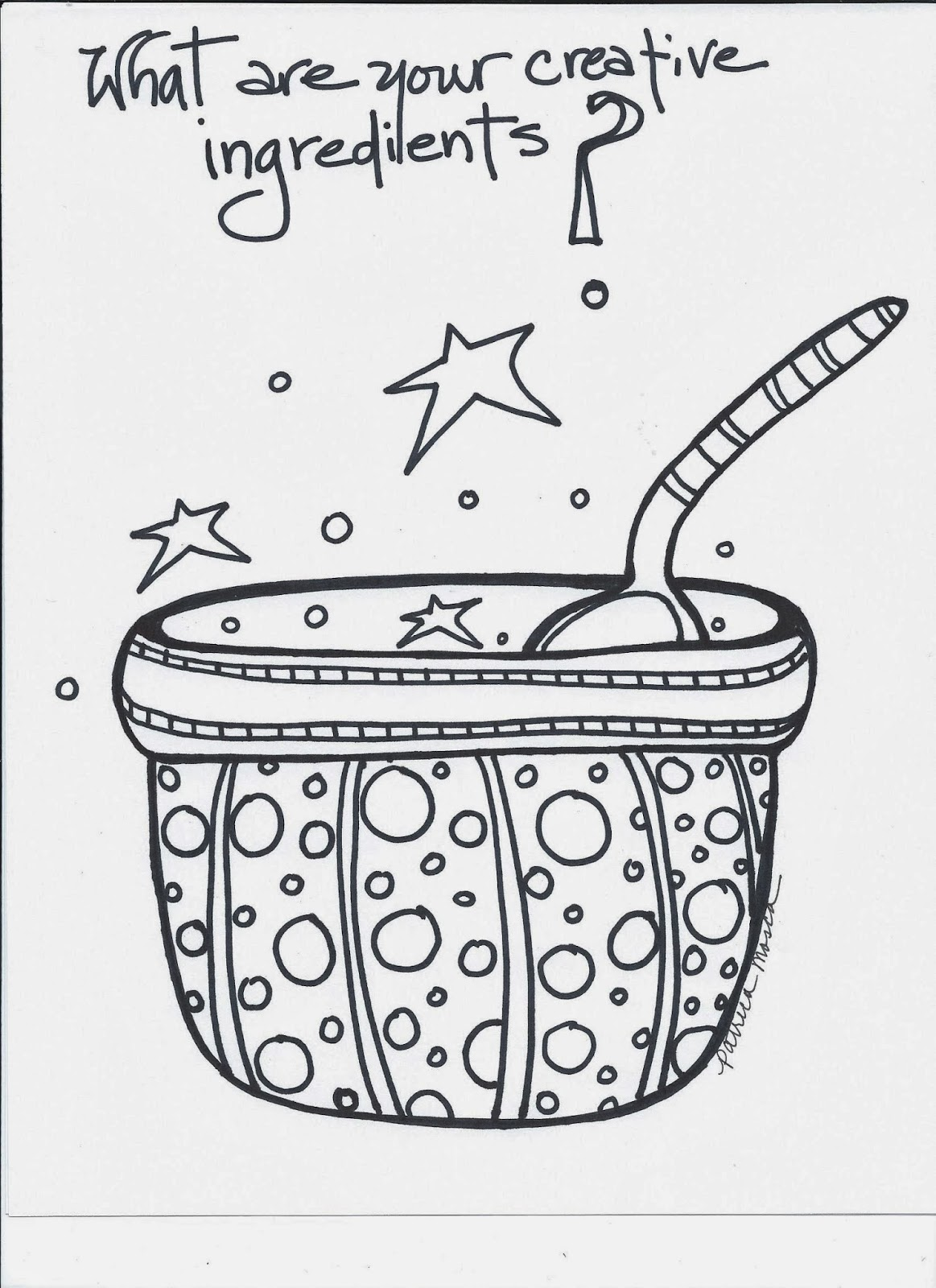 Coloring book page of a playground - Ingredients Coloring Book Page A Little Something From The Creative Playground Creativity Is Made Of Many Ingredients What Is Your Recipe