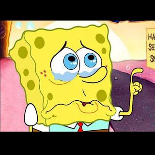 meme spongebob polosan lagi galau