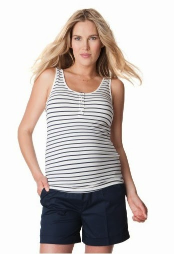 Nautical Striped Bamboo Nursing Tank Top
