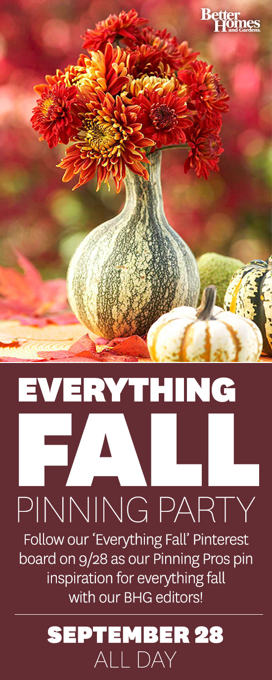 Fall Pinning Party with Better Homes and Gardens
