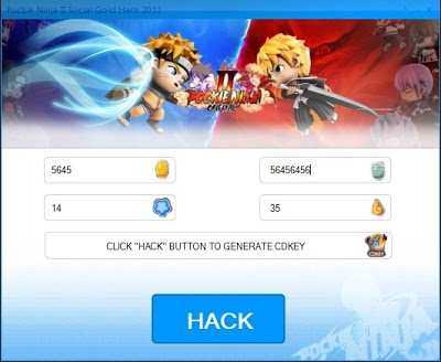 Pockie Ninja II Social Gold Hack Free Download