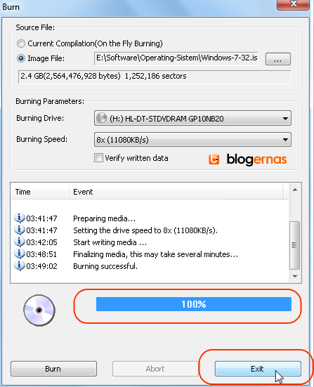 Cara Enteng Burning File Image ISO ke DVD (Full Gambar Tutorial)