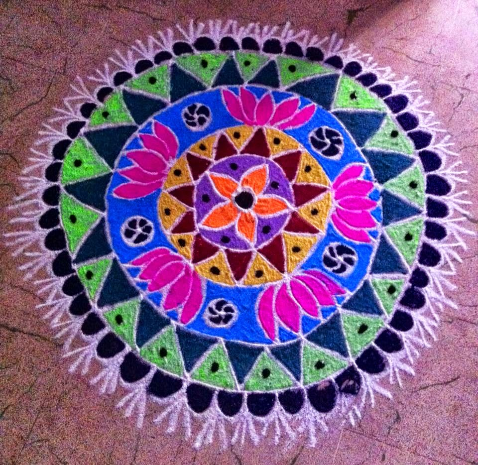 Easy Rangoli Designs 9