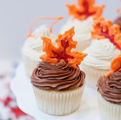 Candy Leaf Cupcake Topper