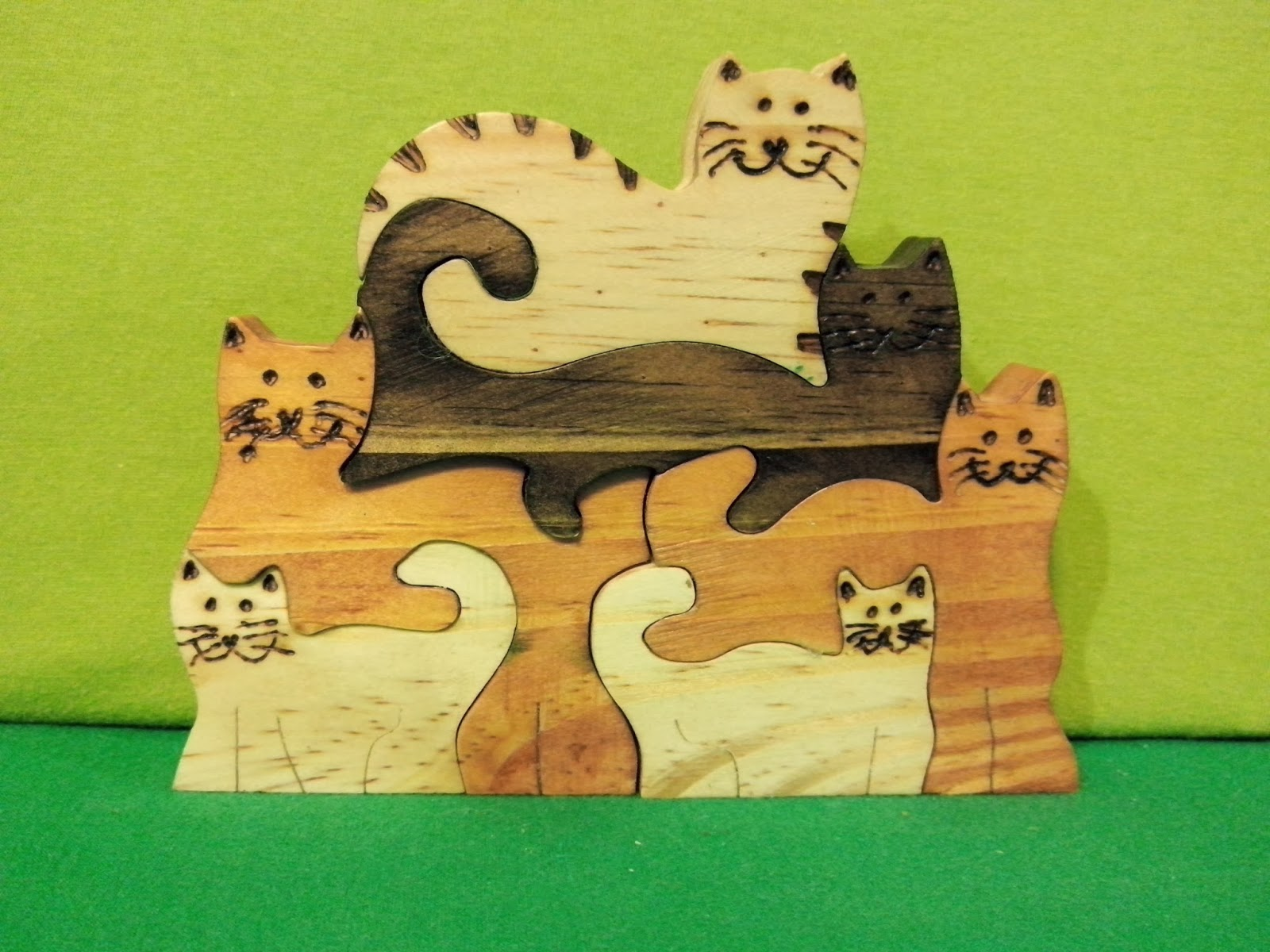 artesanato brasilia df gatos madeira