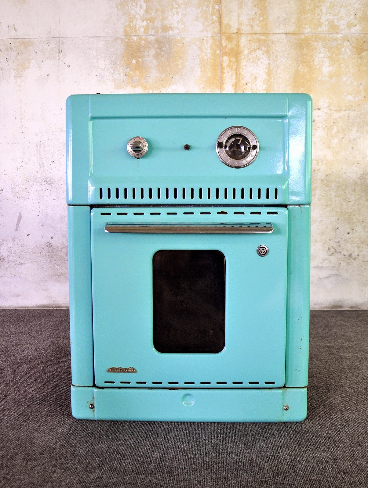 Mid Century Modern Oven ~ Select modern turquoise enamel wall oven