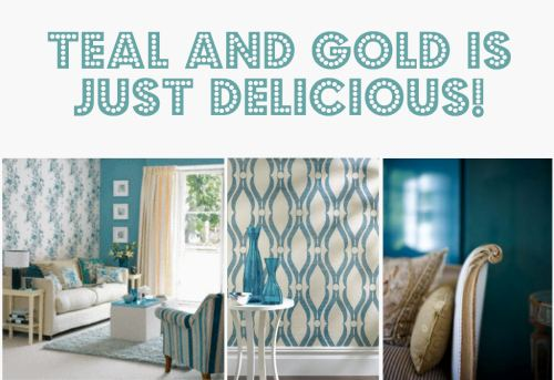 Color crush teal martine louise design for Teal wallpaper living room
