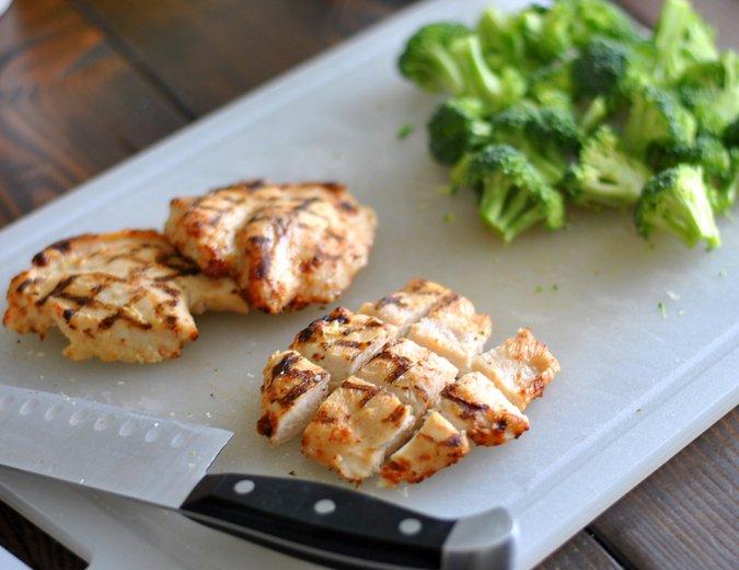chicken and veggie kebabs