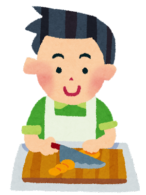 料理のイラスト「男性」