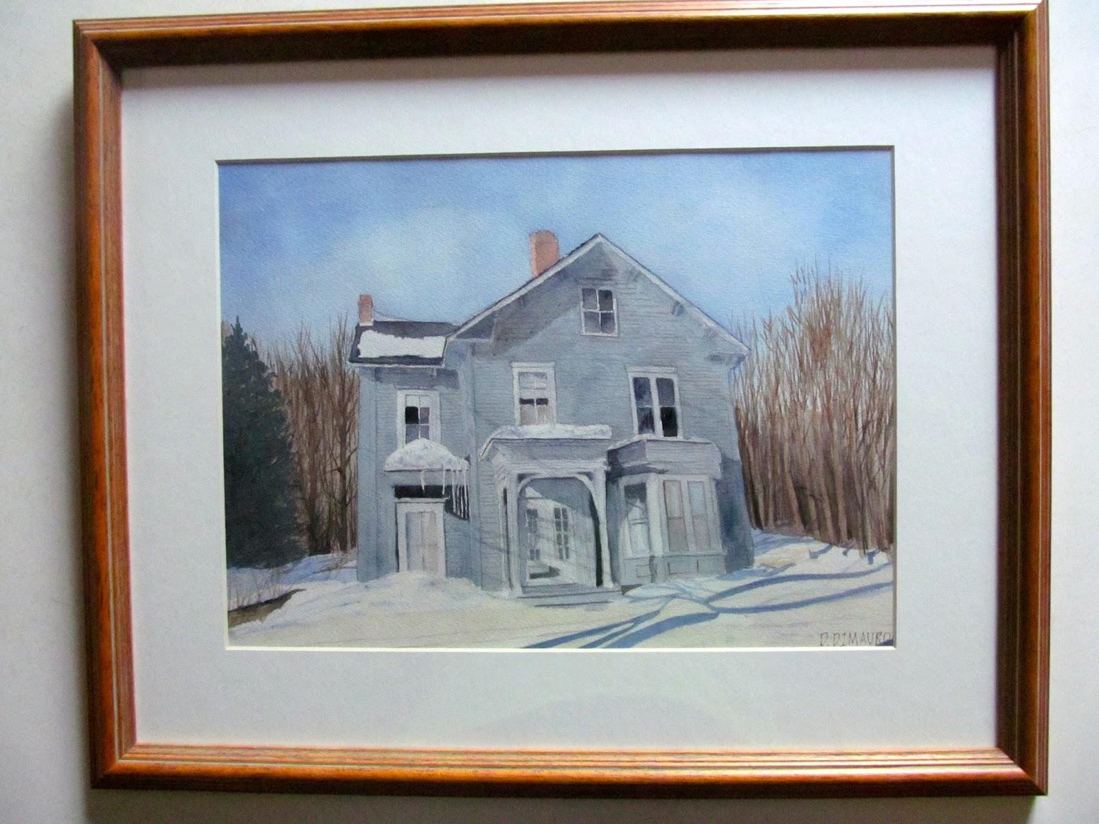 Dale DiMauro: Framing watercolors for Art-in-the-Park