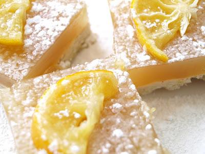 Amped Up Vegan Gluten-Free Lemon Bars with Candied Meyer Lemons