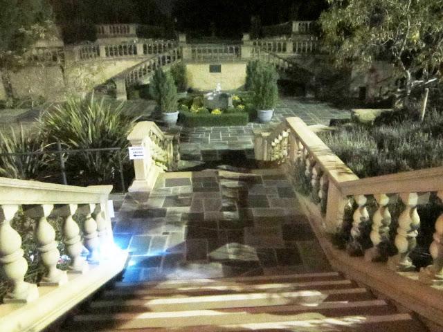 Gardens at the Greystone Mansion at nigh