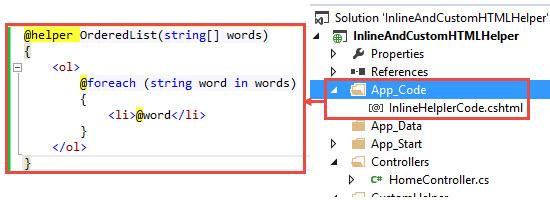 creating custom html helpers mvc 3