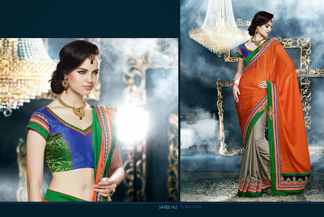 Latest Designer Heavy Embroidered Saree,PartyWear Embroidered Saree