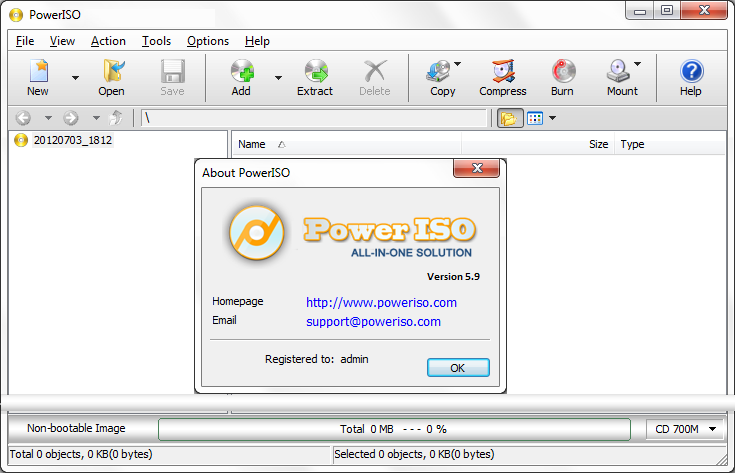 Software PowerISO 7.4 Features