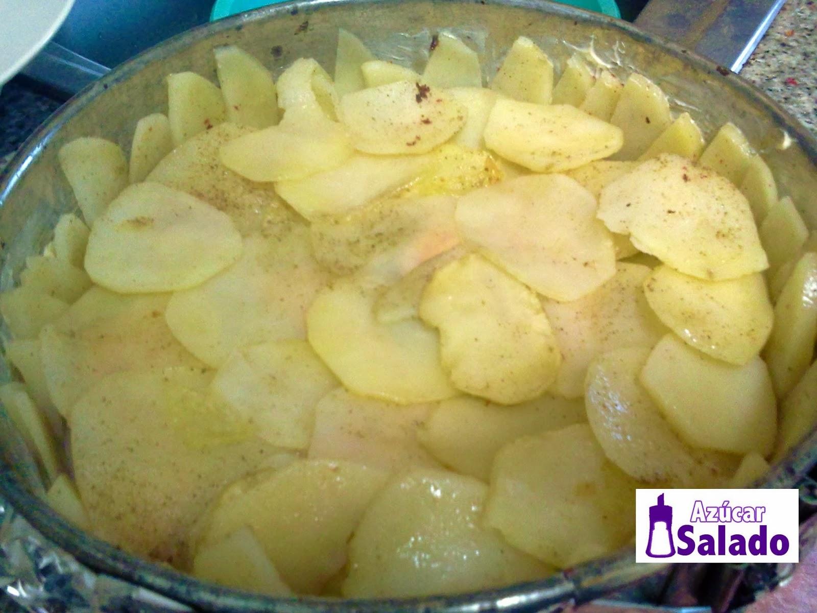 patatas, foie-gras y trufa