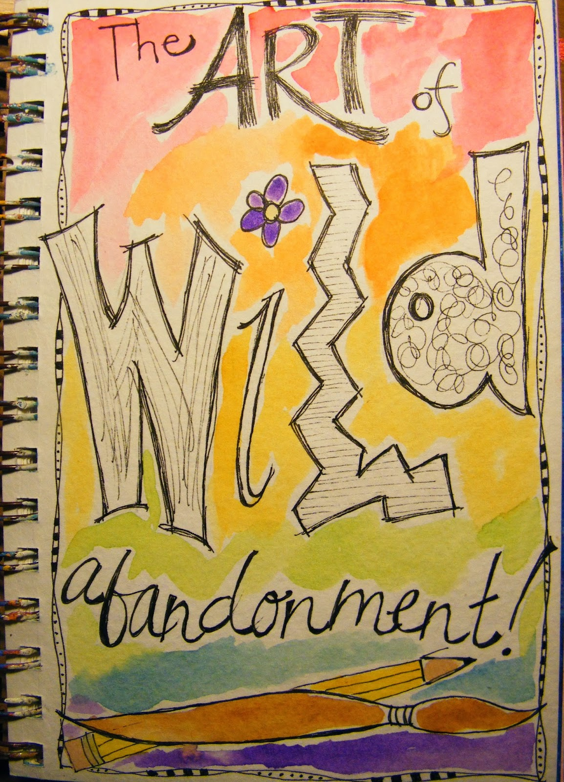 artisan of creative miracles  i ve completed two assignments from the draw your awesome life class the first was a title page for the journal i however ordered a new sketchbook for