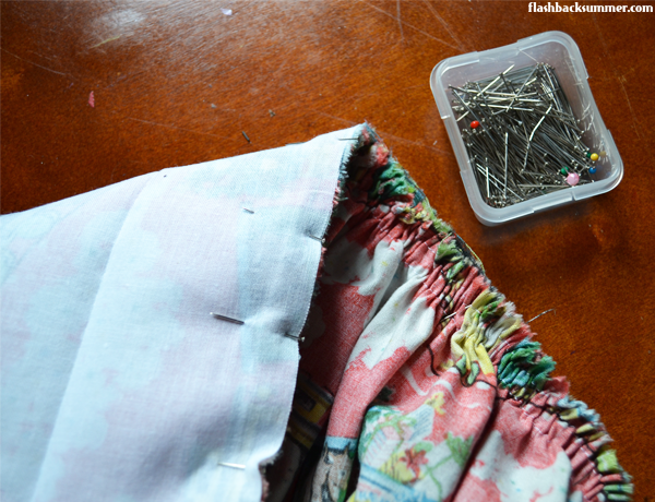 Flashback Summer: how to sew a gathered vintage dirndl skirt