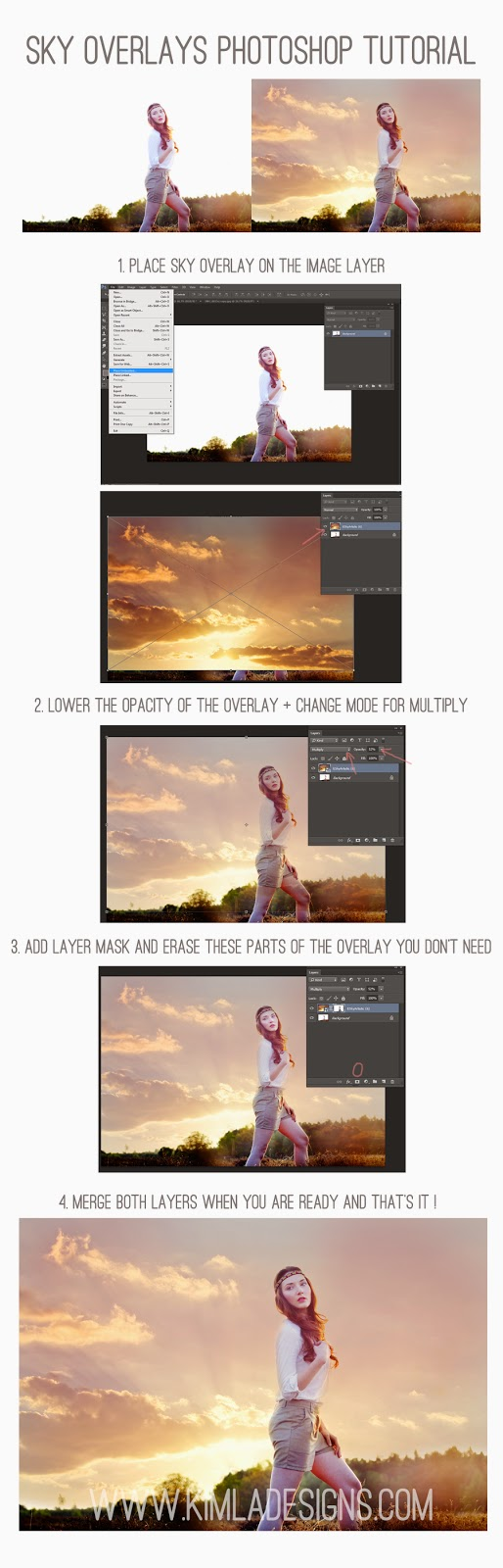 English Sky Overlays Photoshop Tutorial