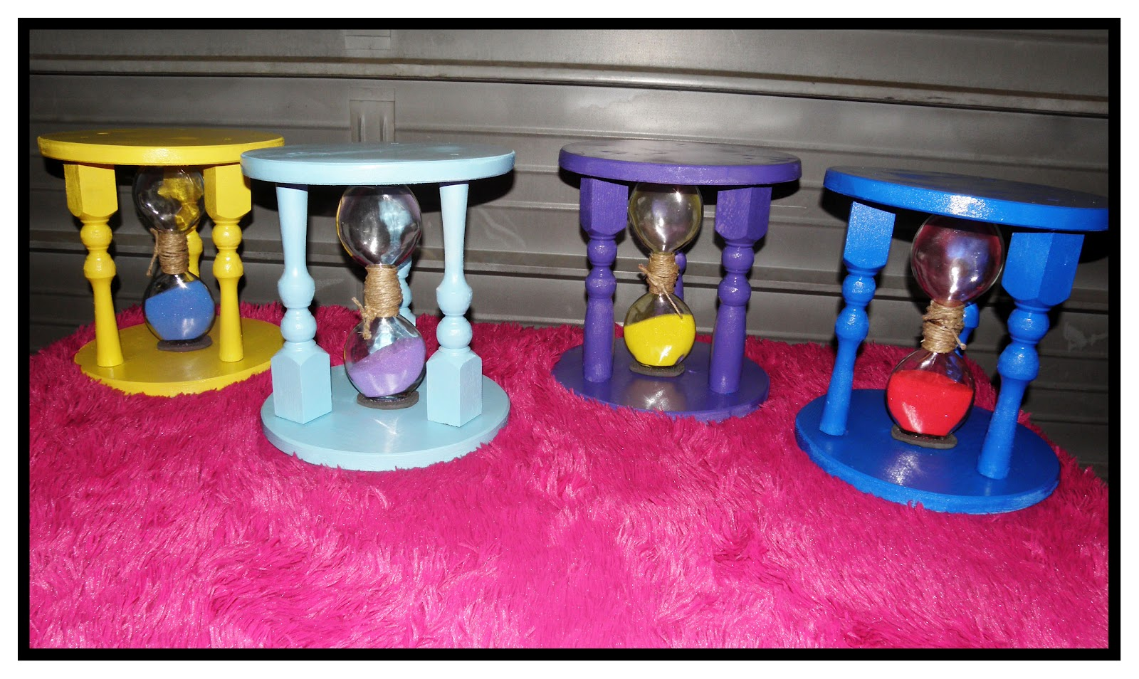 Bianca S Creations DIY Time Out Stool With Hourglass