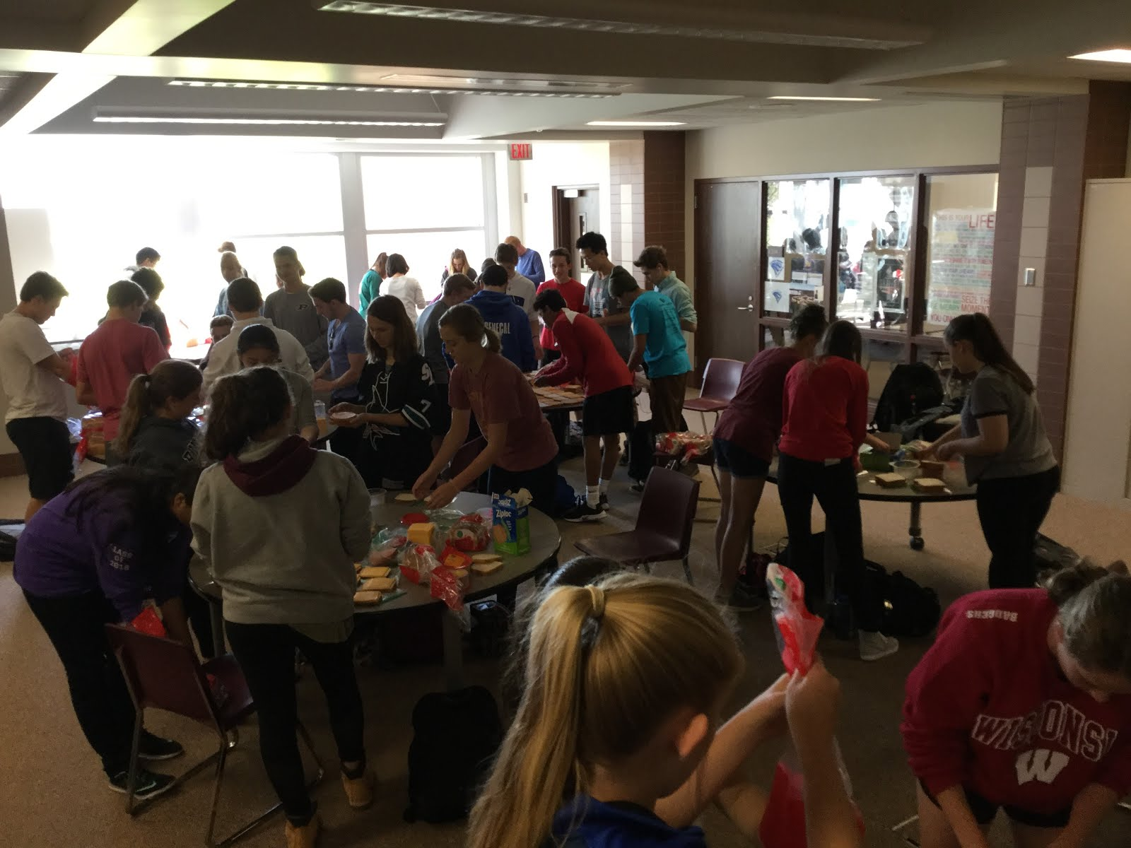 2017 Homecoming Service Project - Sandwich Project