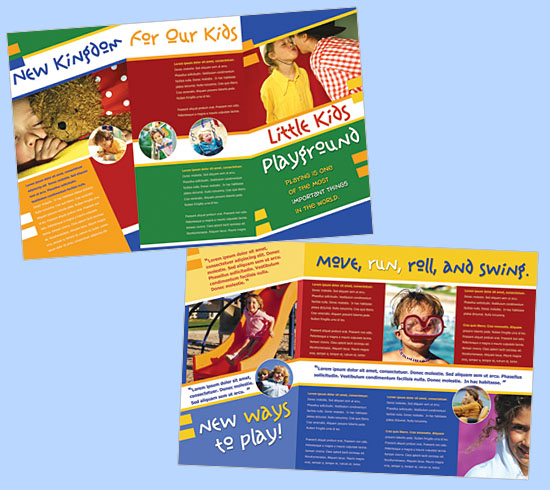 Brochure zafira pics brochure template for kids for Free brochure templates for students