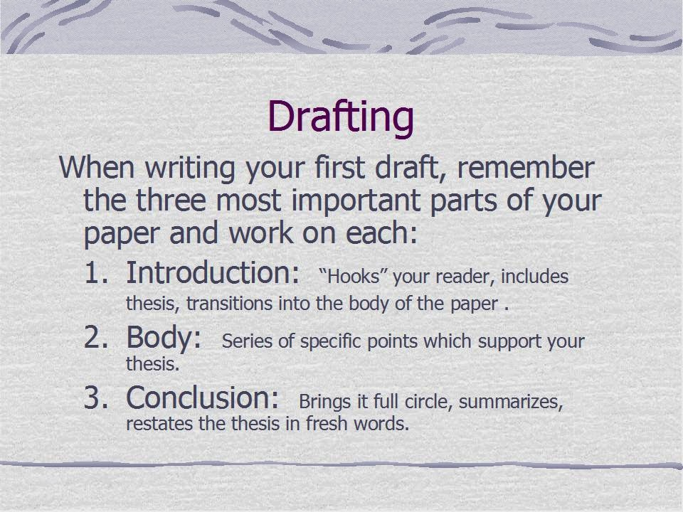why is drafting important to the writing process