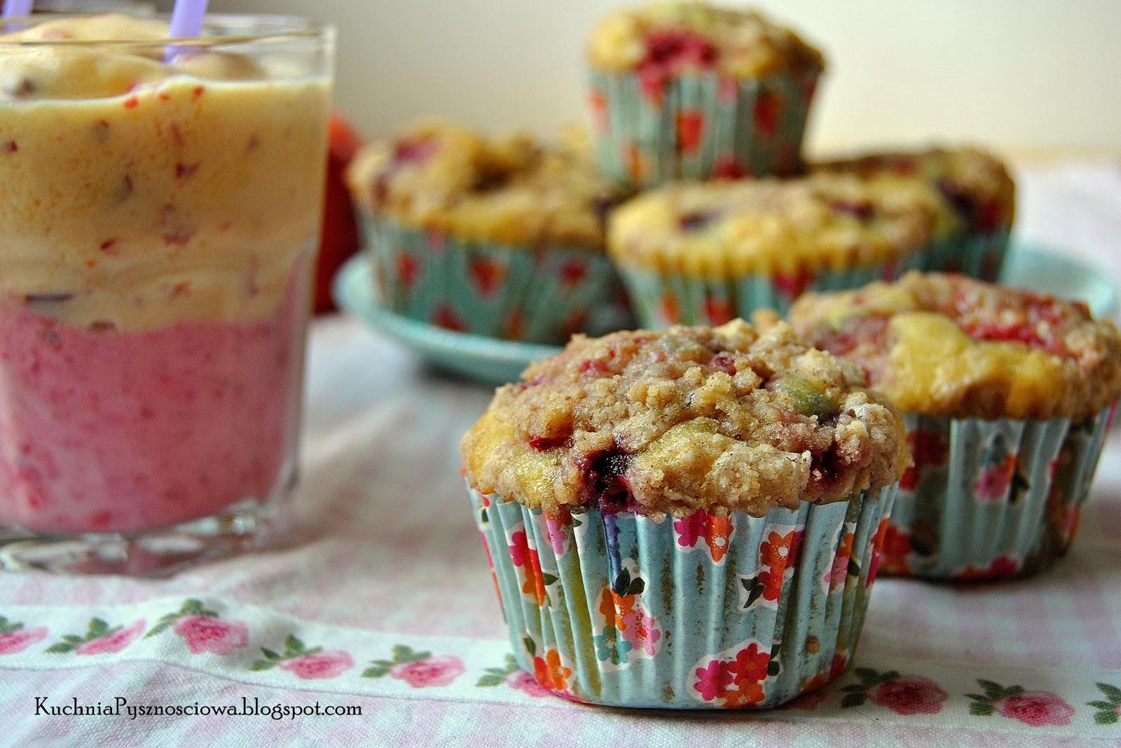 253. Muffiny z malinami, borówkami i kruszonką jako posiłek dodający sił na Runmageddonie