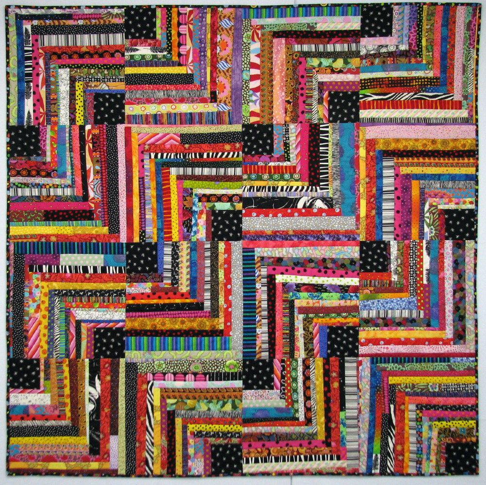 Exuberant Color Quilts Pieced With Uneven Width Strips