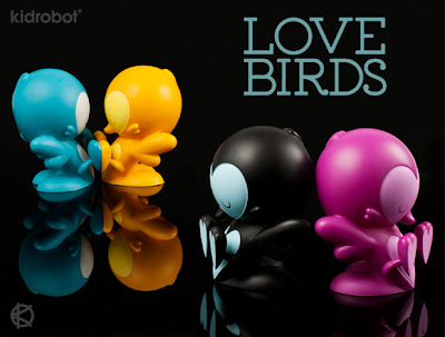 Kidrobot - Teal, Black, Orange & Purple Edition Lovebirds Vinyl Figures by Kronk