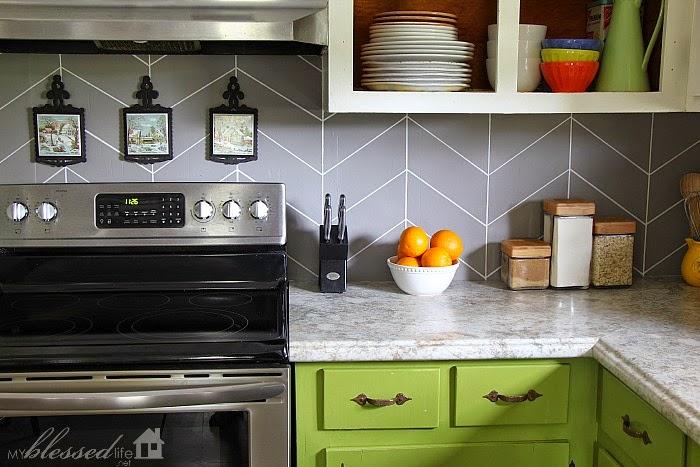 Paint kitchen tiles backsplash