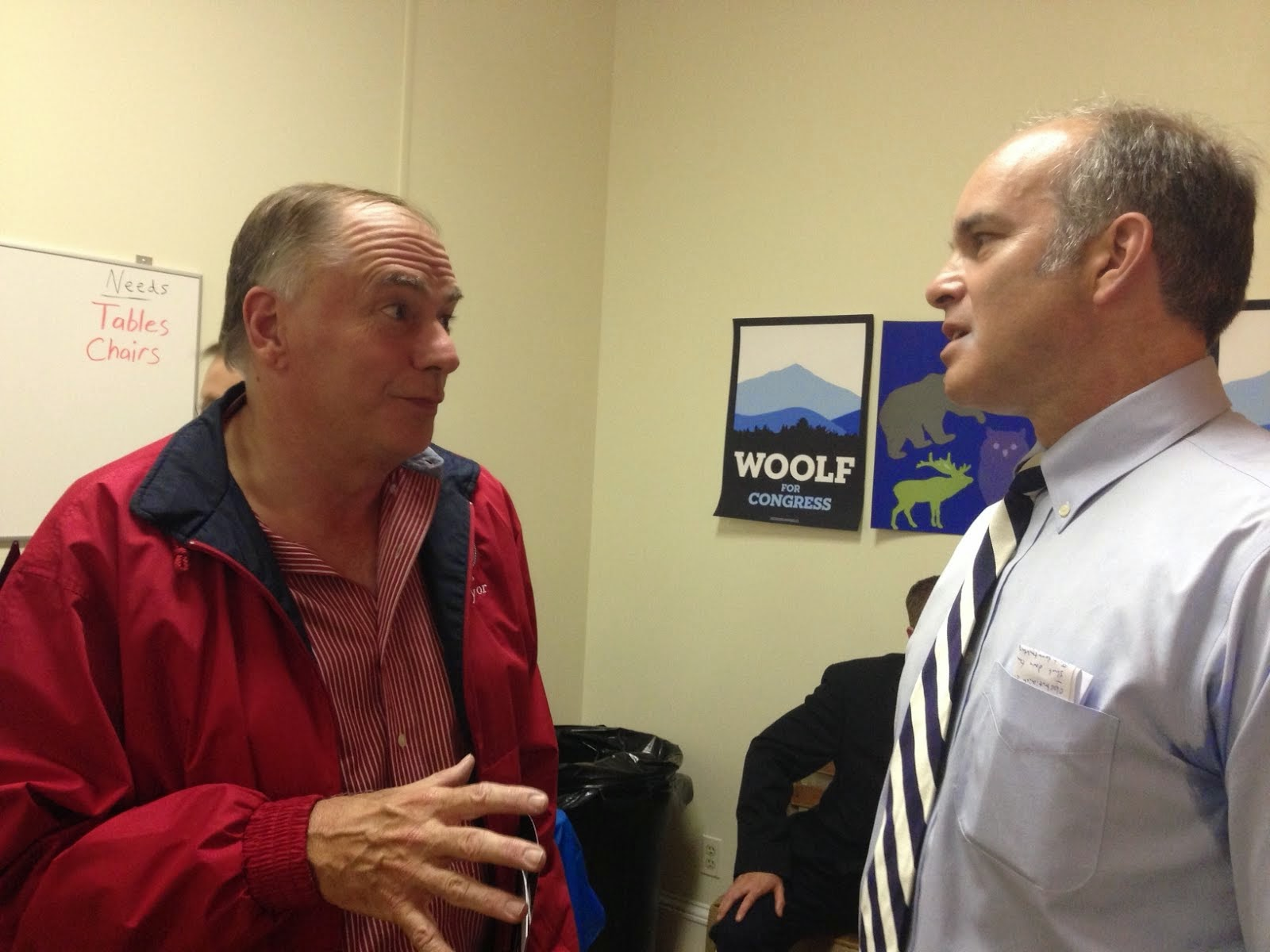 Aaron Woolf Chats With Me After the Rally