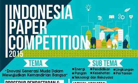 INDONESIA PAPER COMPETITION 2015