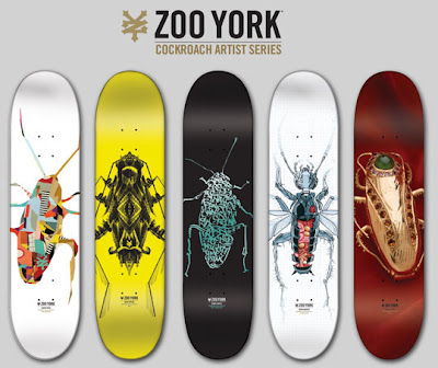 cockroach skate deck art - zoo york skate art