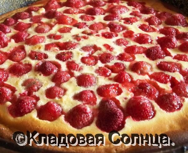 сладкий пирог ягодами рецепт с фото