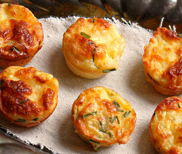 ... to Rags* by Dori: Mini Bisquick Quiches with Bacon, Onion and Cheese