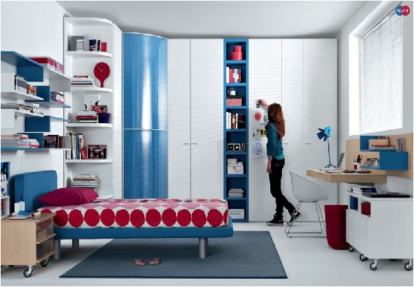 Cool modern teen girl bedrooms room design inspirations for Jugendzimmer cool
