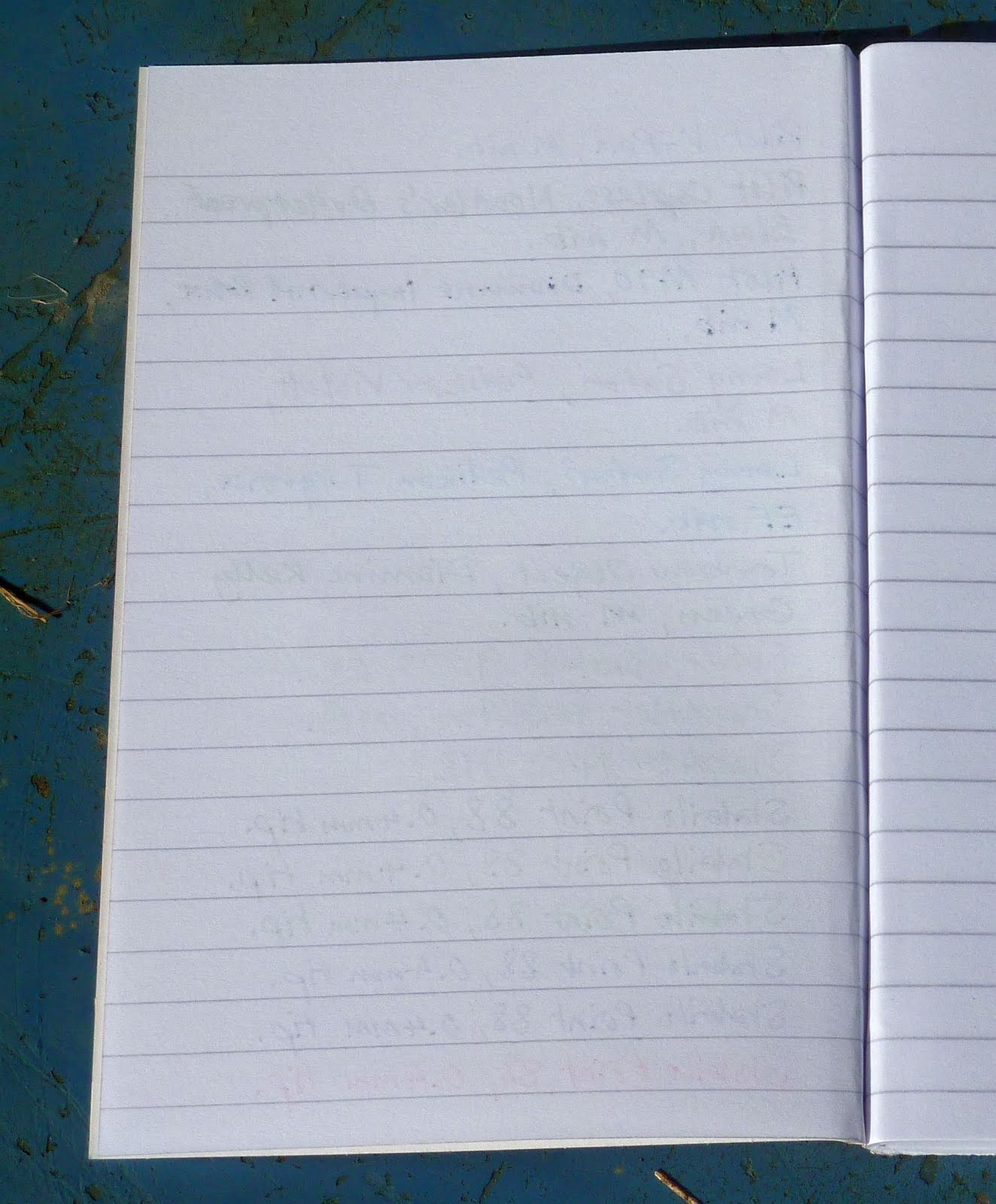 wide ruled notebook paper template .