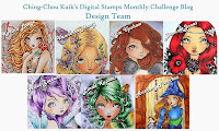 CHING-CHOU KUIK DIGITAL STAMPS MONTHLY CHALLENGE BLOG DESIGN TEAM