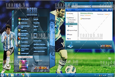 Windows 7 Messi Teması