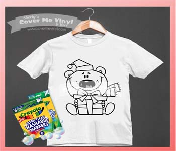 Color Me Polar Bear Shirt Kit