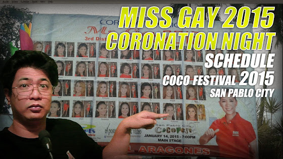 Miss Gay 2015 Coronation Night Schedule, 1/14/2015, San Pablo City Cocofest 2015