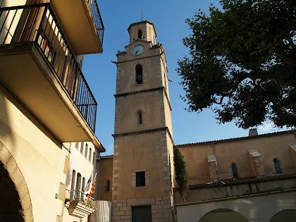 El campanar de l'església de Sant Quirze i Santa Julita d'Arbúcies