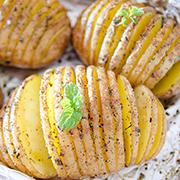 Patatas acordeón a horno