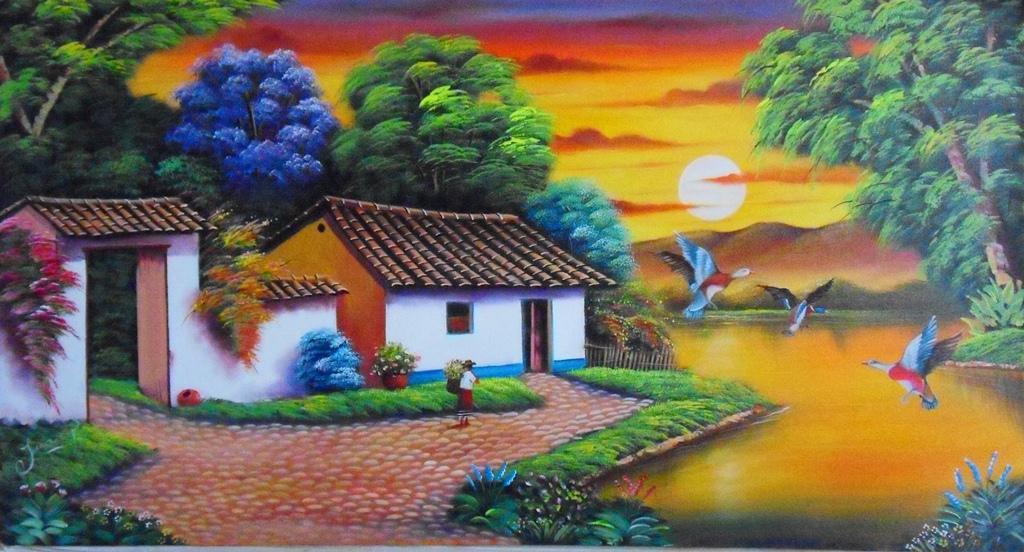 Fotos de Pinturas Paisajes Colombianos | El club del arte, pinturas