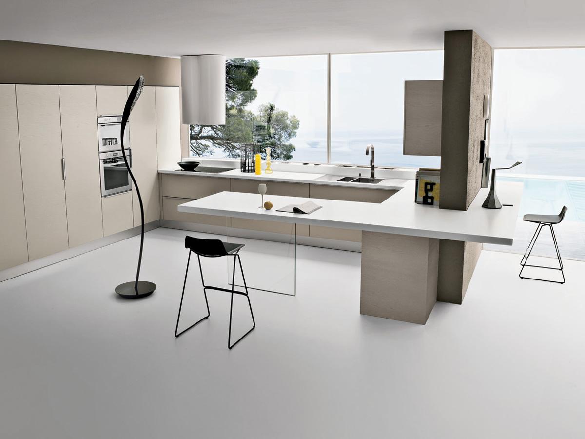 Cocinas que se integran a cualquier ambiente cocinas con for Cocinas pequenas integradas en el salon