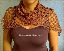 Como Hacer a Crochet Bufanda con Borde de Flores y Punto Salomón o Mosca