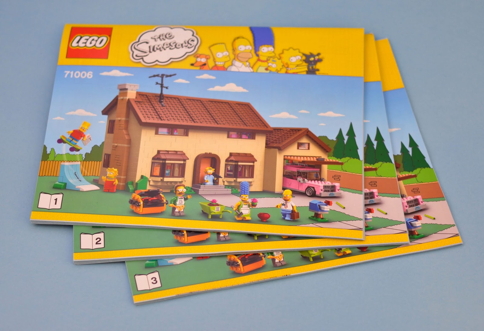 LEGO 71006 The Simpsons The Simpsons House STICKER SHEET
